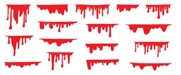 ilustraciones, imágenes clip art, dibujos animados e iconos de stock de objetos de halloween - sangre