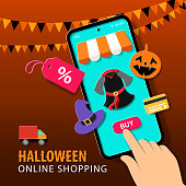 Buy Halloween costume, witch's hat, Jack O' lantern, decoration and prop online on mobile app with discount, then deliver to your home