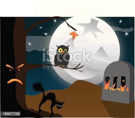 istock Hallowe'en or Halloween Scene 165027239