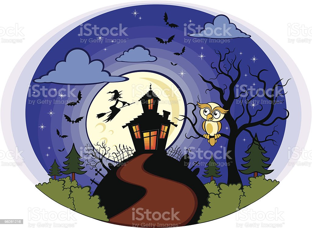 Halloween owl royalty-free halloween owl stock vector art & more images of bat - animal