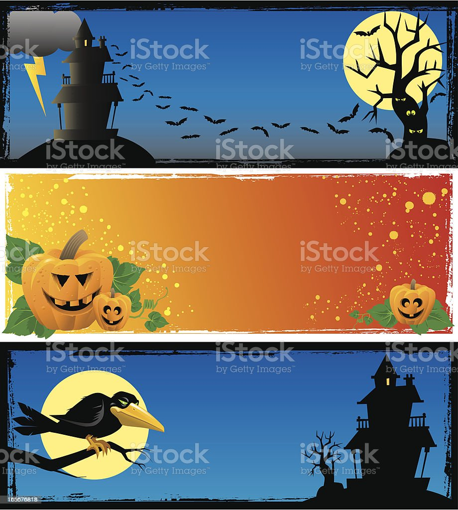 Halloween Panels royalty-free stock vector art
