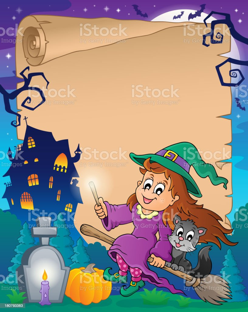 Halloween parchment 7 royalty-free stock vector art