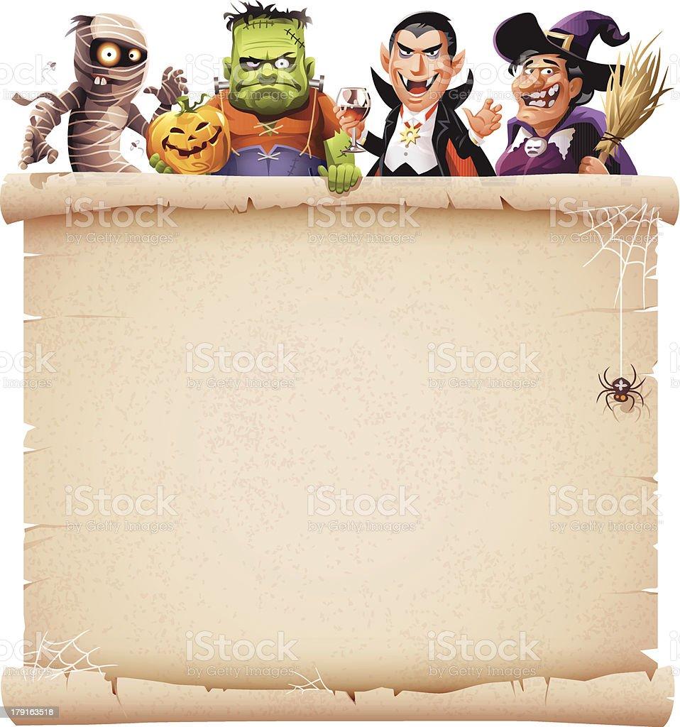 Halloween Parchment vector art illustration