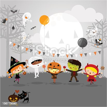 Kids in halloween. Please see some similar pictures in my lightbox: http://i681.photobucket.com/albums/vv179/myistock/hal.jpg