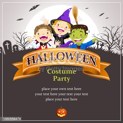 istock Halloween Party Banner 1050556474