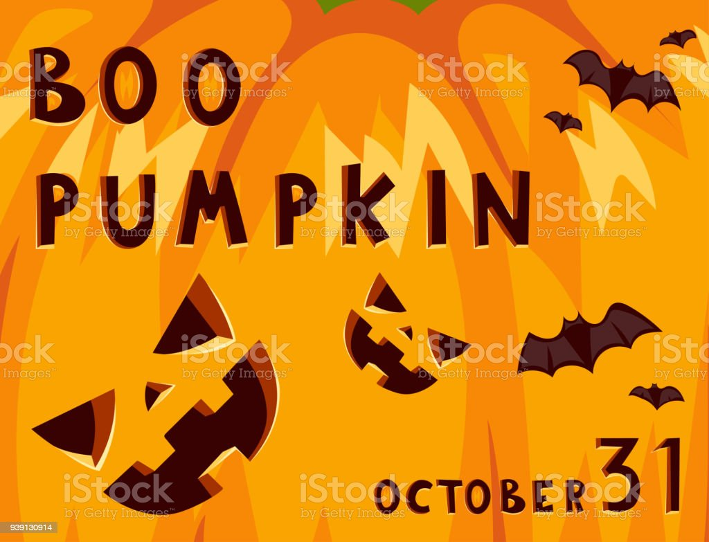 Halloween Party Celebration Invitation Card Vector Illustration ...