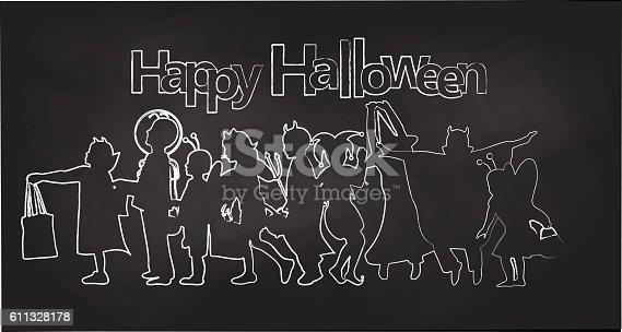 Halloween Party Chalkboard