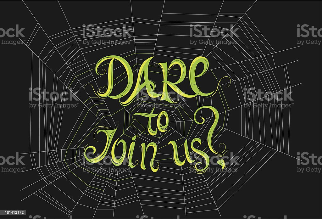 Halloween Party: DARE to Join Us? royalty-free stock vector art