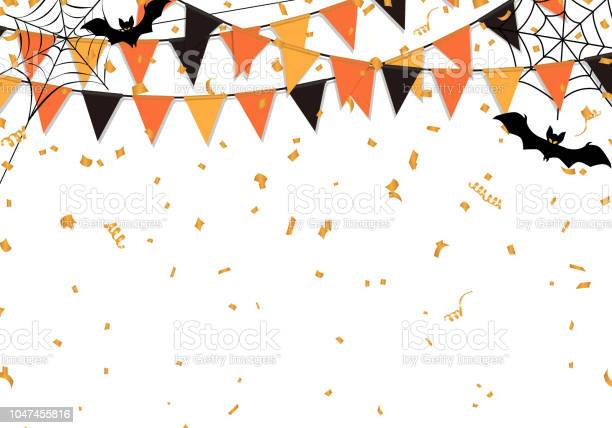 Halloween party flags background vector illustration vector id1047455816?b=1&k=6&m=1047455816&s=612x612&h=molbhworqmxvi7jgljsy4zwutaipdirx o0ngftpsg0=