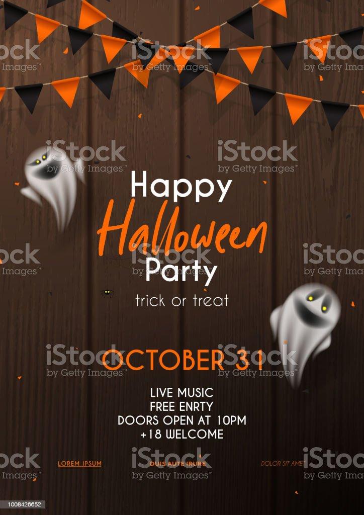 Halloween Party Flyer Invitation Template Stock Vector Art More