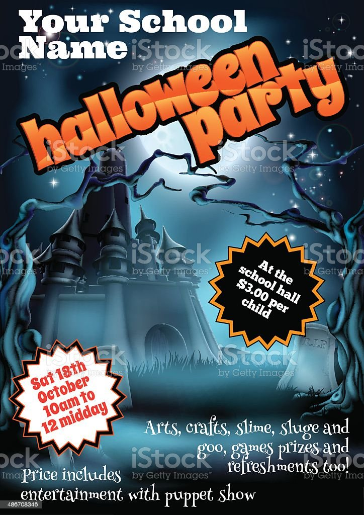 Halloween Party Flyer Poster vector art illustration