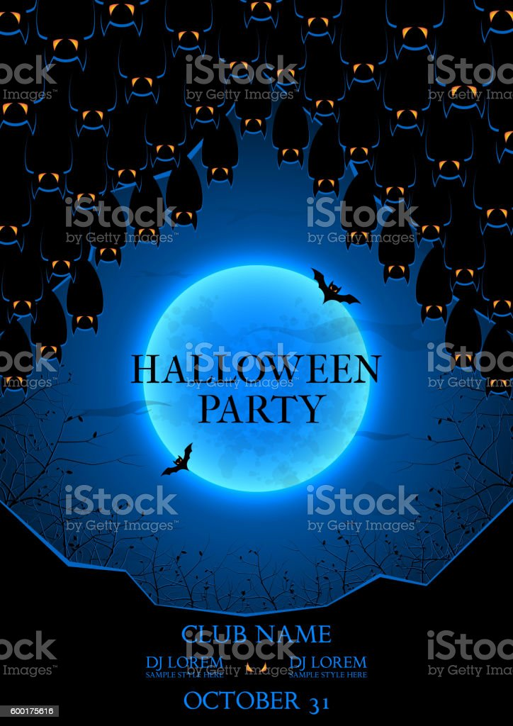 Halloween party flyer royalty-free halloween party flyer stock vector art & more images of advertisement