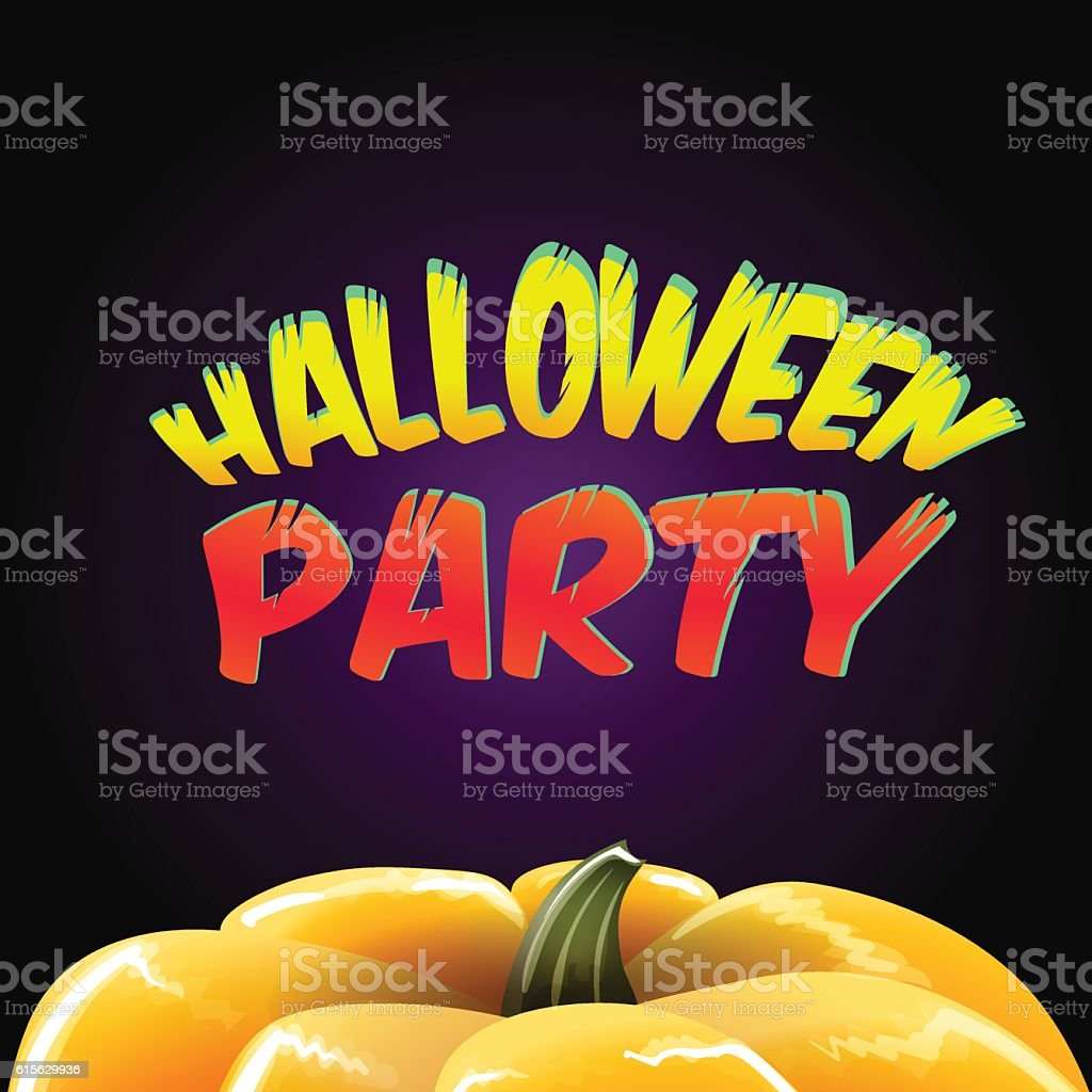 Halloween Party For Invitation Cards And Posters Vector