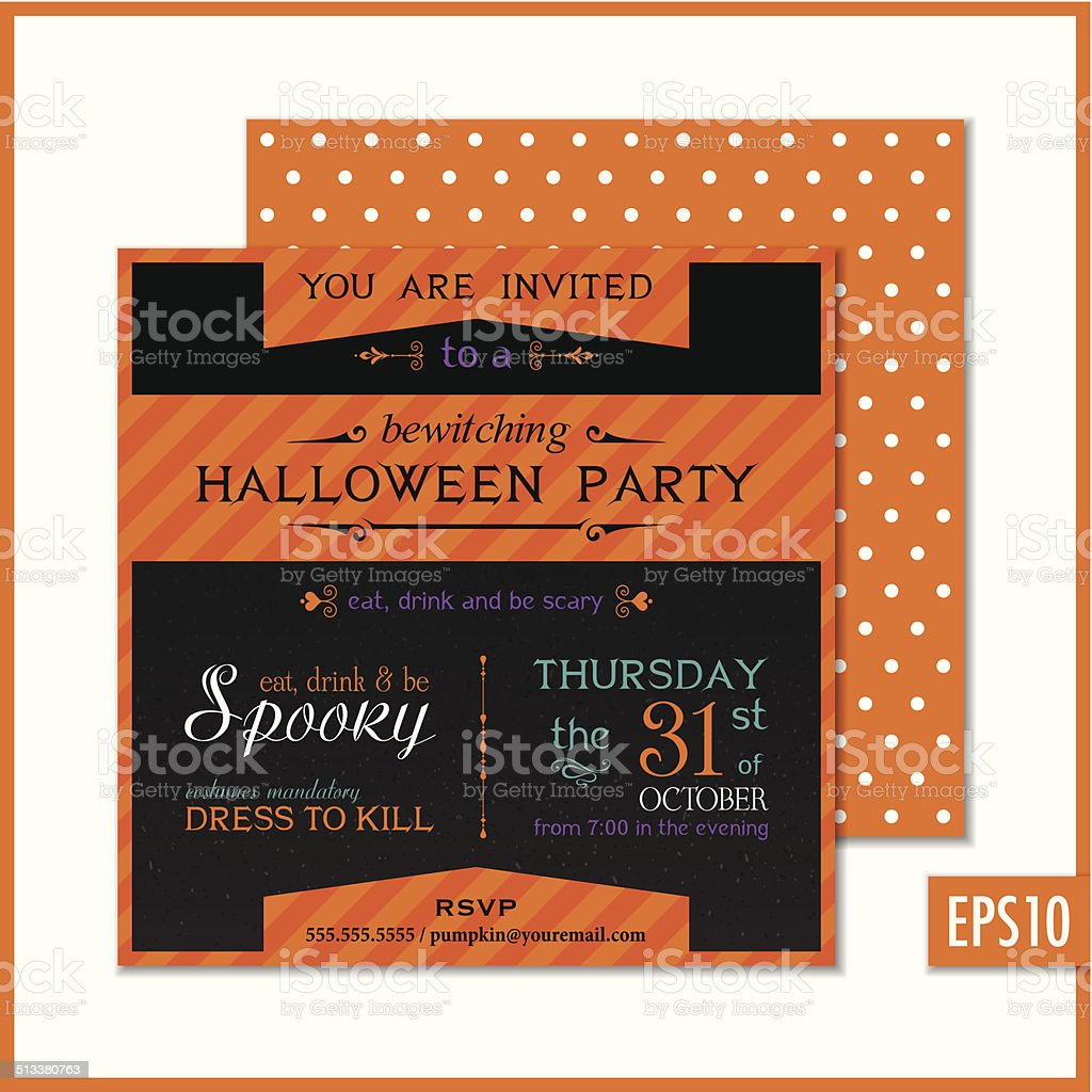 Halloween party invitation black orange stock vector art more halloween party invitation black orange royalty free halloween party invitation black orange stock vector art stopboris Gallery