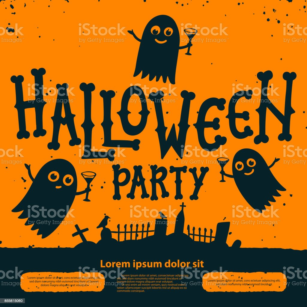 Halloween Party Invitation Card Halloween Party Invitation Flyer ...