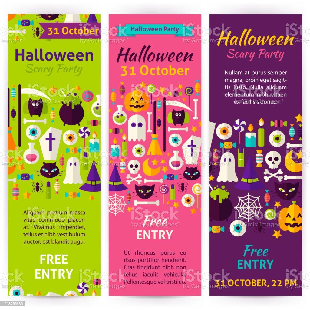 Halloween Party Invitation Flyers Cliparts Vectoriels Et Plus D
