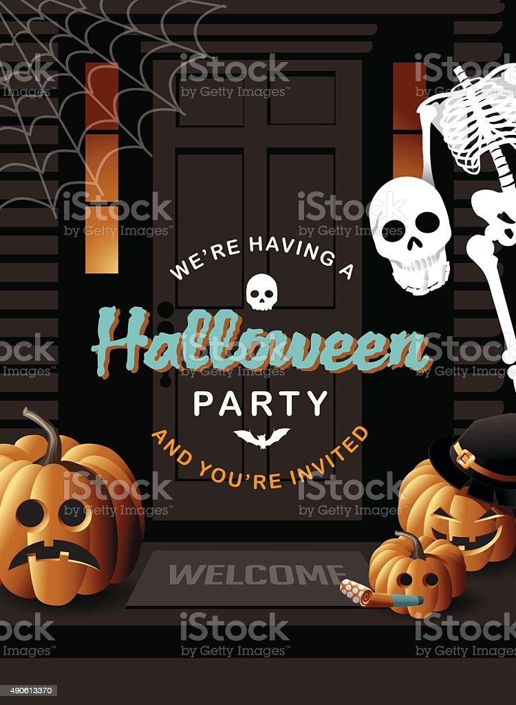 Halloween Email Background.Halloween Party Invitation House Background Stock Illustration Download Image Now Istock