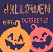 ハロウィーン パーティー招待状のテンプレートです。ベクター バナー