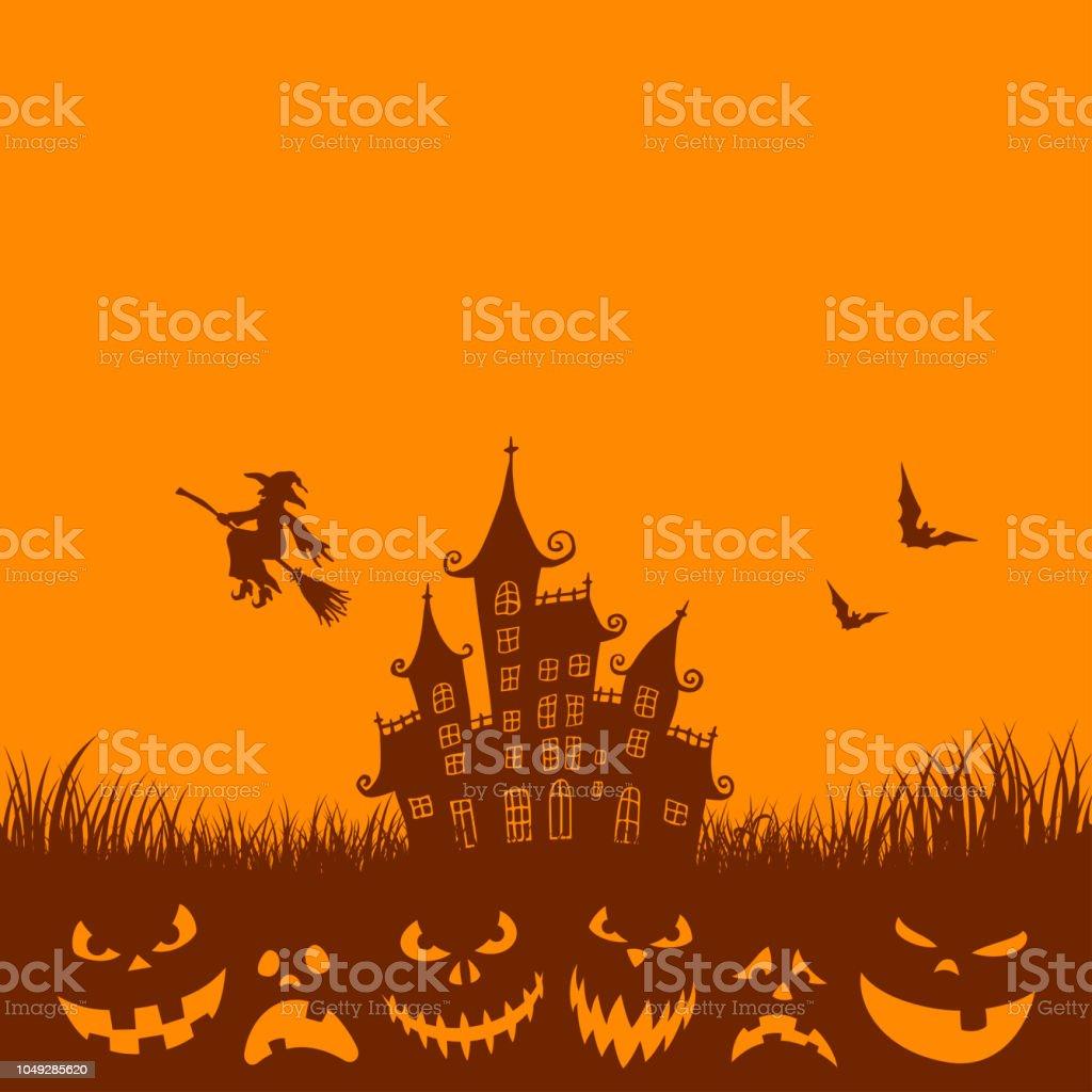 Halloween Party Invitation Template vector art illustration
