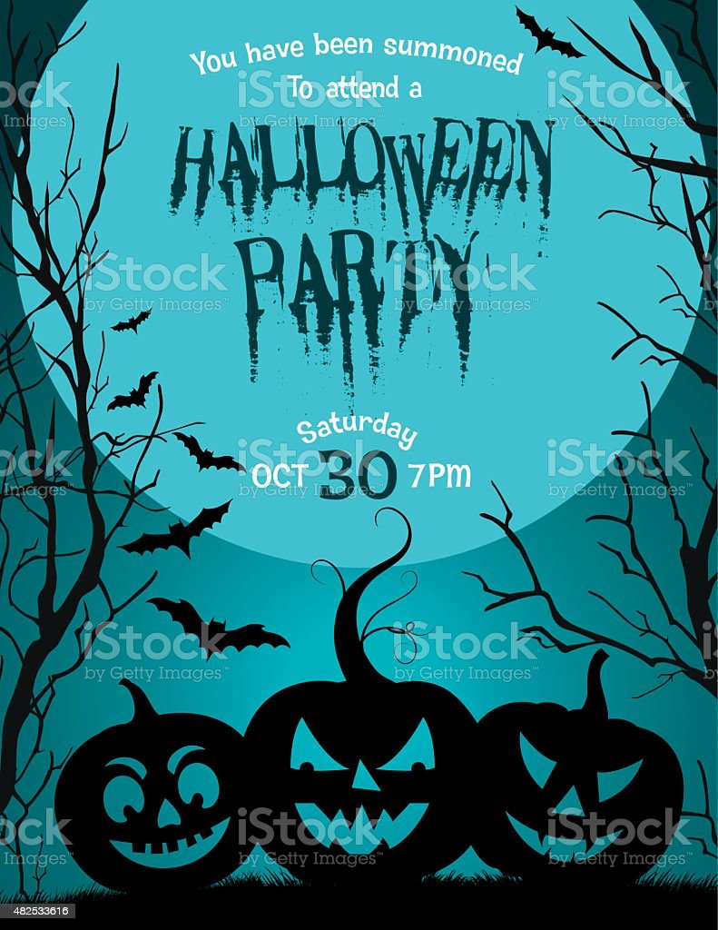 halloween party invitation template stock vector art more images