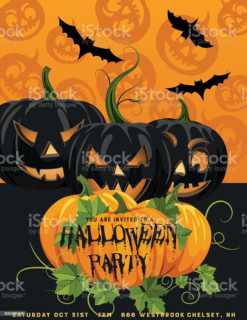 halloween party invitation template stock vector art 600406450 | istock