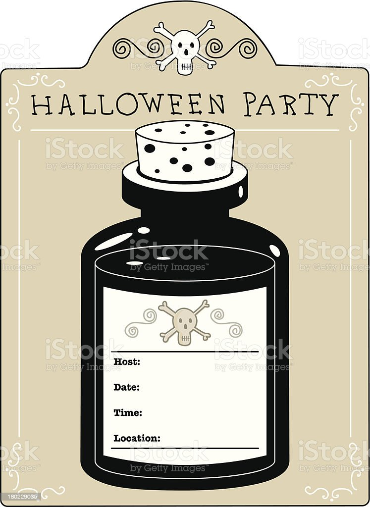 Halloween Party Invitation royalty-free stock vector art