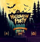 Halloween party. Invitation