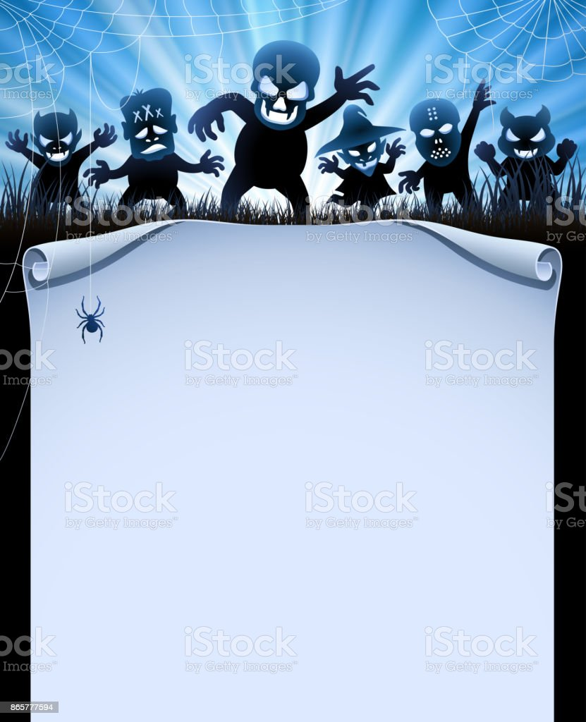 Halloween Party Invitation vector art illustration