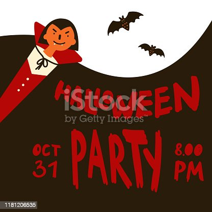istock Halloween party invitations or greeting cards 1181206535