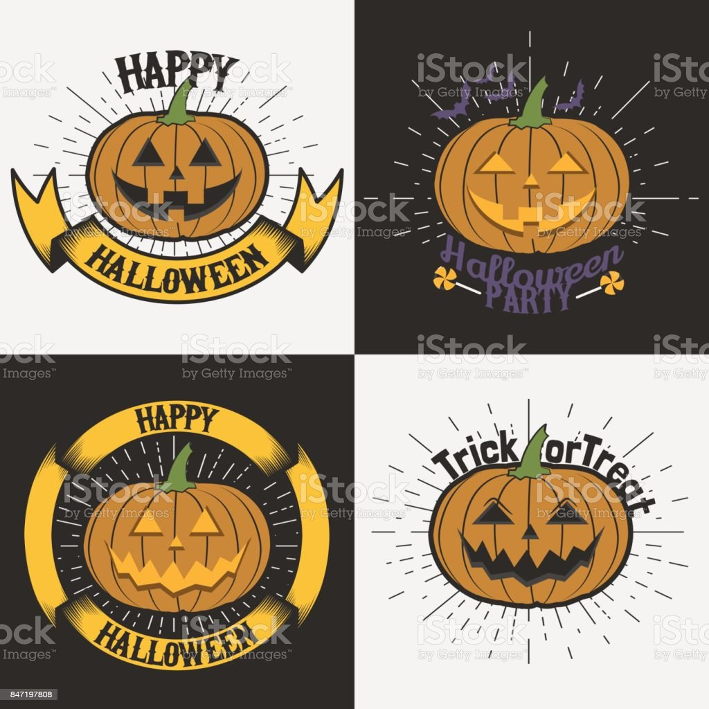 halloween party label templates jack o lantern logo halloween