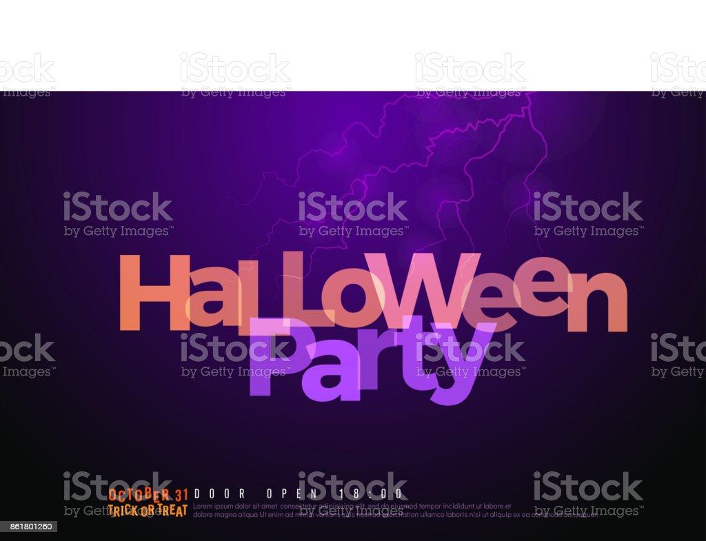 Ilustración de Plantilla De Diseño De Logo De Fiesta De Halloween ...
