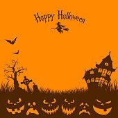 istock Halloween party poster 1049691220