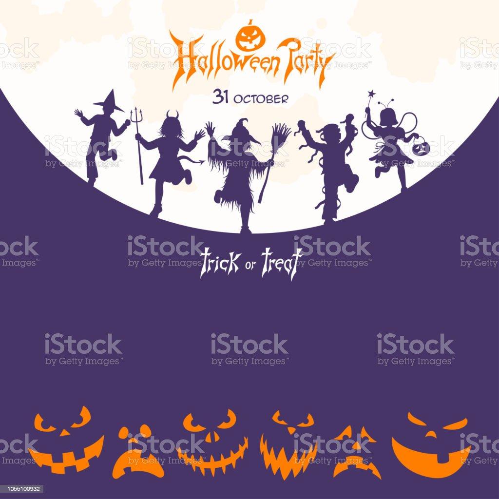 Halloween Party Poster vector art illustration