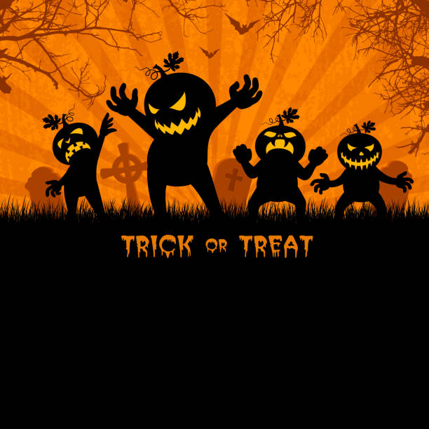 Halloween Party Poster Halloween Party Poster spooky halloween town stock illustrations