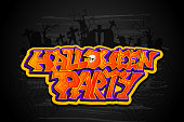 vector illustration of Halloween Party background