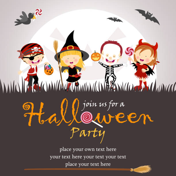 halloween-party - piratenschrift stock-grafiken, -clipart, -cartoons und -symbole