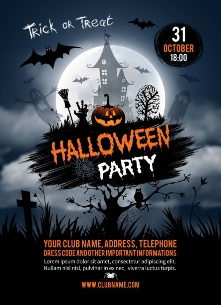 halloween party - halloween stock illustrations, clip art, cartoons, & icons