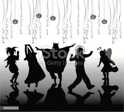 Halloween Party Vector Silhouette