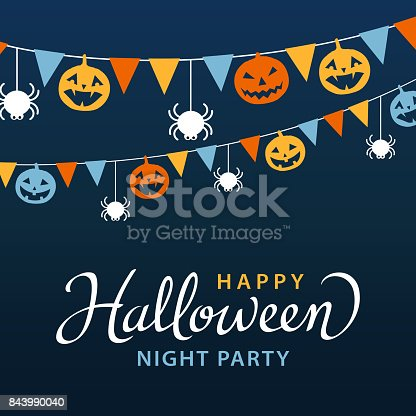 istock Halloween Party with Bunting 843990040