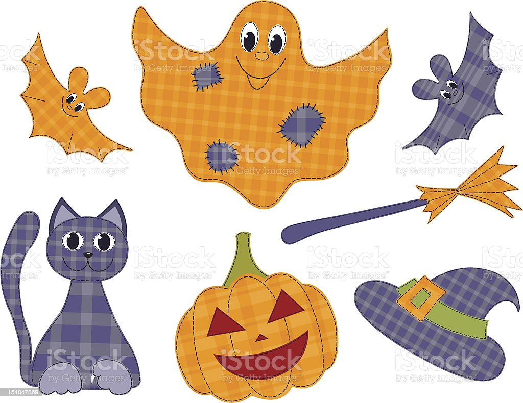 Halloween patchwork set royalty-free halloween patchwork set stock vector art & more images of appliqué