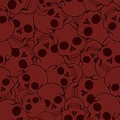 istock Halloween pattern with skulls 1271933406