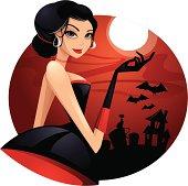 Halloween Pin-Up