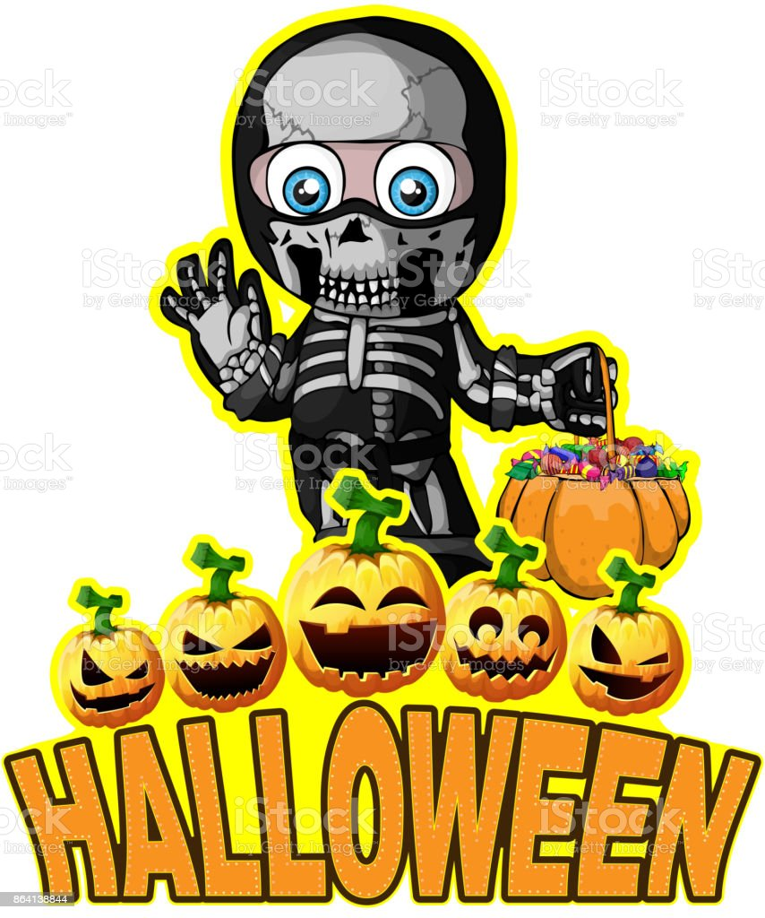 Halloween Poster with a boy in a suit skeleton royalty-free halloween poster with a boy in a suit skeleton stock vector art & more images of autumn
