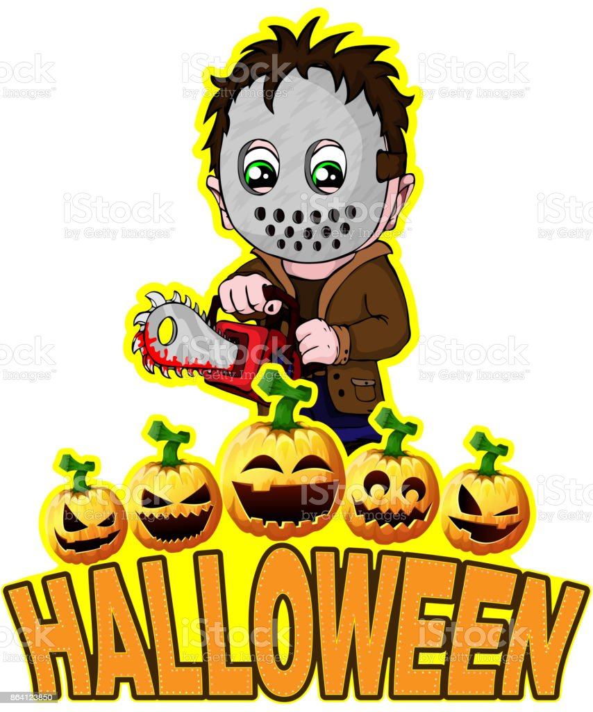 Halloween Poster with killer with mask. royalty-free halloween poster with killer with mask stock vector art & more images of adult