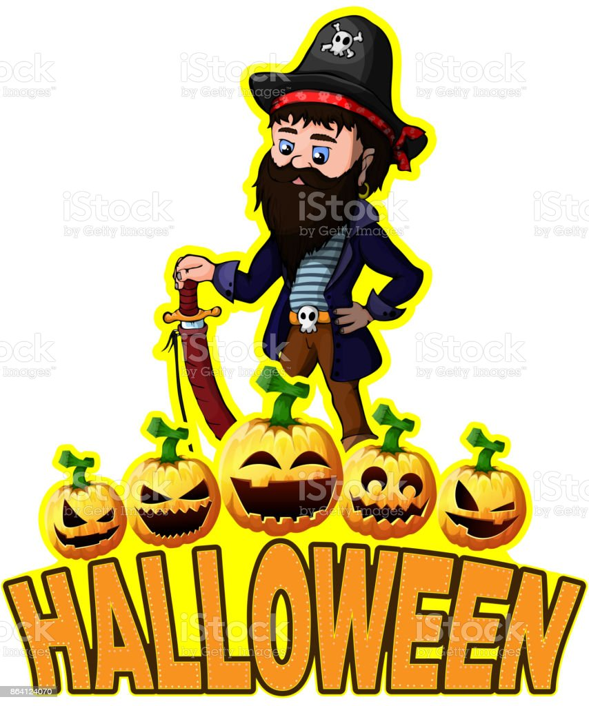 Halloween Poster with Pirate. royalty-free halloween poster with pirate stock vector art & more images of ancient