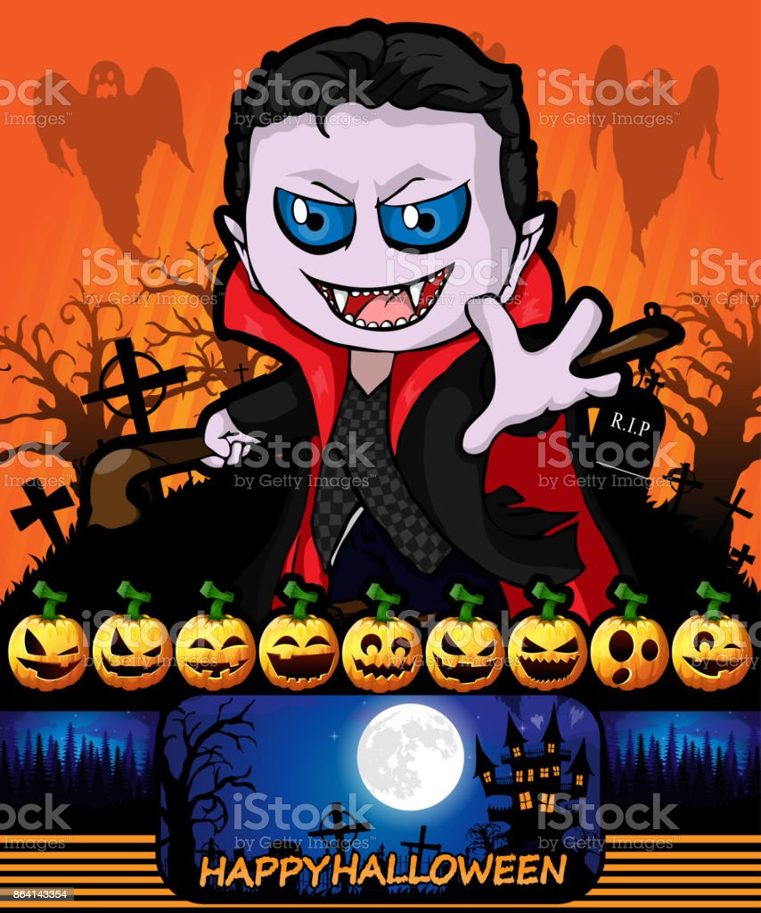 Halloween poster with vampire. Vector illustration. royalty-free halloween poster with vampire vector illustration stock vector art & more images of abstract