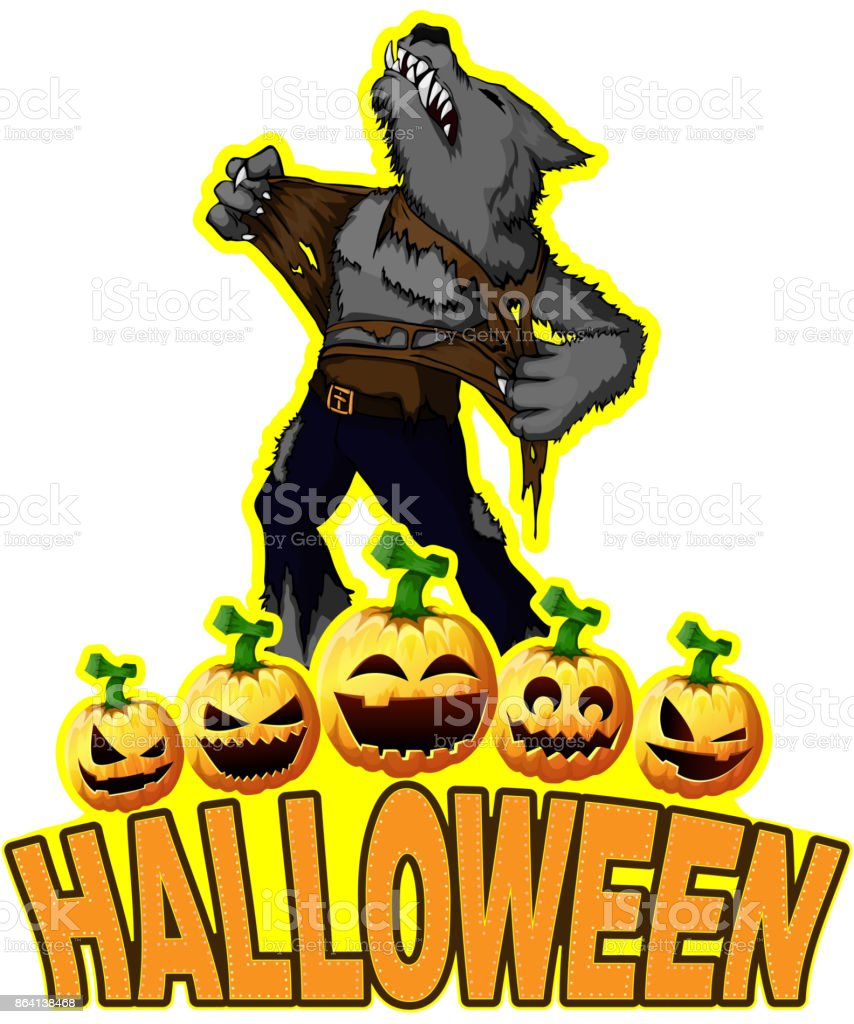 Halloween Poster with werewolf royalty-free halloween poster with werewolf stock vector art & more images of adult