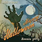 Halloween Poster With Zombie Hand