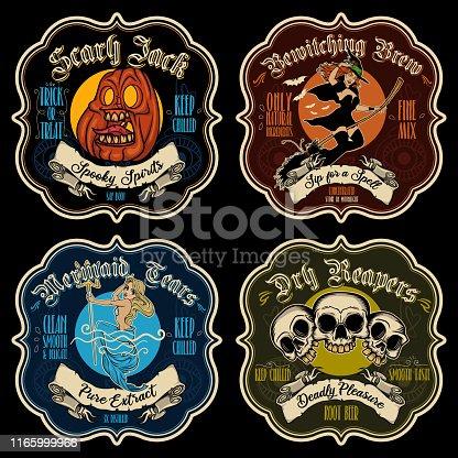 istock Halloween potion sticker-labels. 1165999966