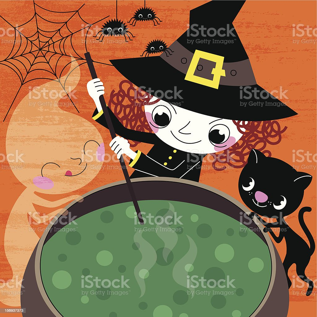 Halloween Potion vector art illustration